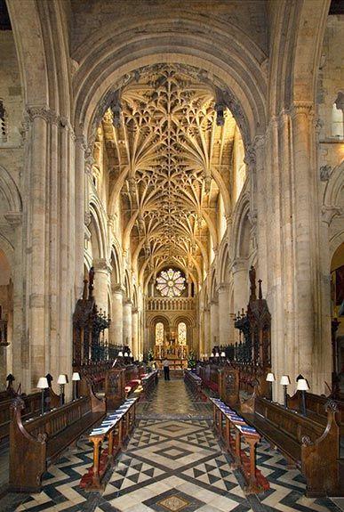 Interior Christ Church Oxford University.  Oxford, Oxfordshire, England, UK