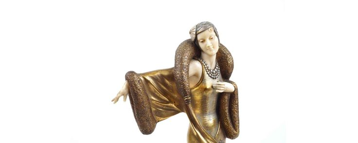 "#MarchAuction26 Preview  ""Feminine Sculpture"" by H. Molins (Demetre H. Chiparus) France, years 20"