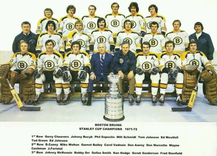 Bobby Orr - Boston Bruins 1971-1972 Stanley Cup Championship team