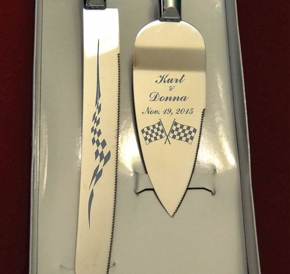 Hey, I found this really awesome Etsy listing at https://www.etsy.com/listing/251860339/checkered-flags-wedding-cake-knife-and