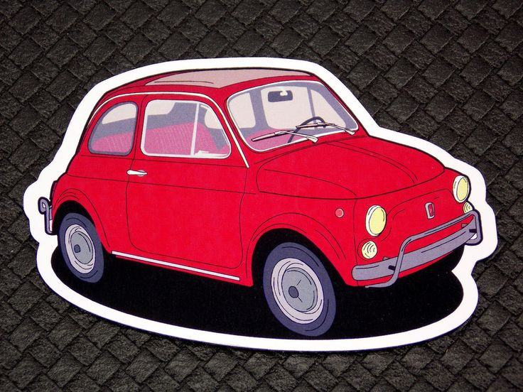 Fiat 500 Retro Car Flexible Fridge Refrigerator Magnet Unique Gift by Osarix