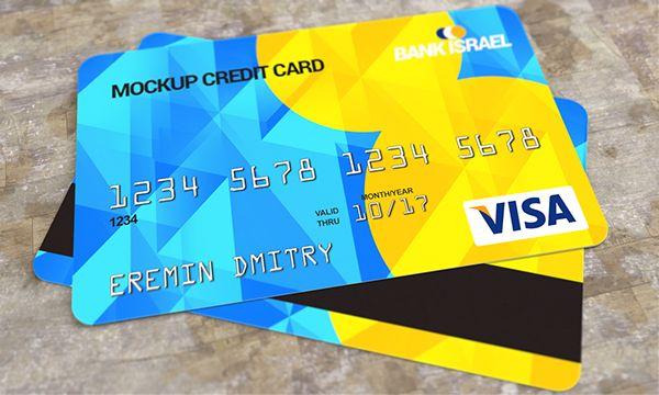 Credit card mockup free PSD on Behance