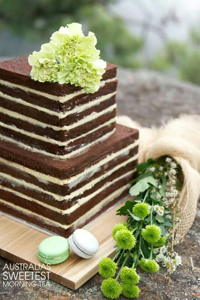 Simple Birthday Cake - Like the square naked cake look