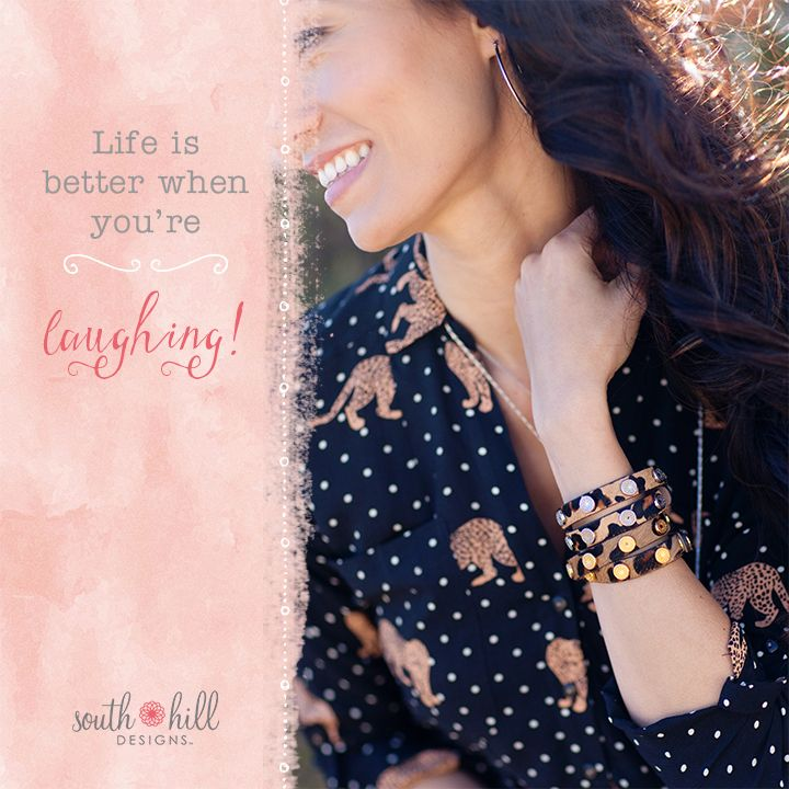 What's life without a good laugh? Show your love for life with our latest additions the Laugh collection. #leopardprint #bracelets #wraps #jewelry