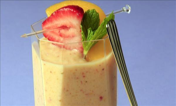Creamy Mixed Fruit Smoothie Dole Sunshine Mixed Fruit Smoothie Fruit Smoothie Recipes Mixed Fruit