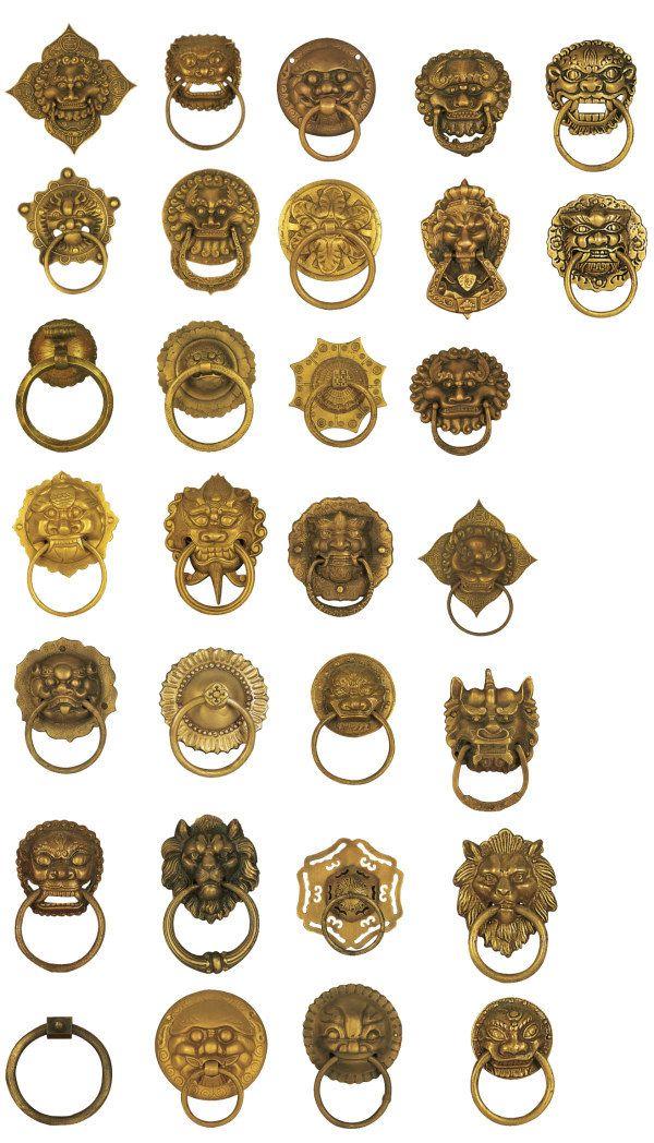 古典铜牌铜环全集-背景-PSD
