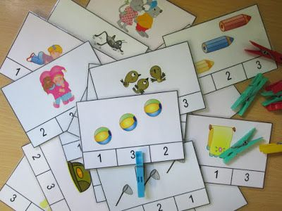 Escuela con Vida: Tarjetas de asociación cantidad-grafía