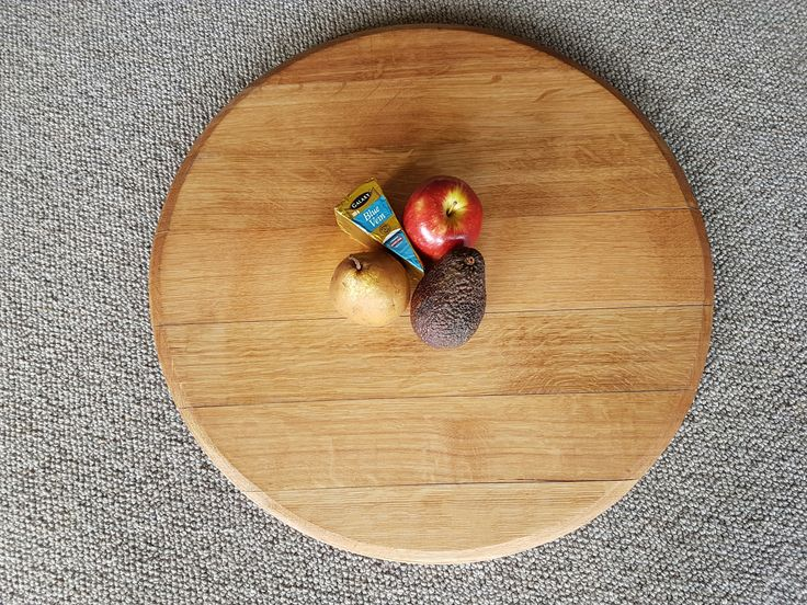 Cheeseboard Platter Made From A Wine Barrel Product.