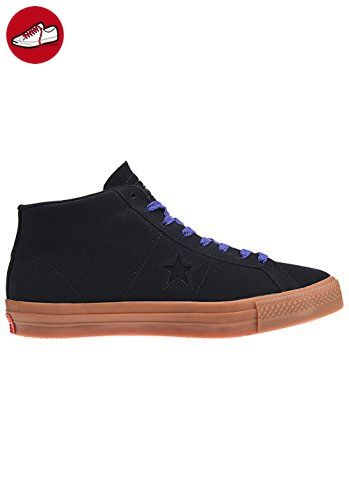 Converse Unisex Leder One Star Pro Mid Skate Schuh, schwarz - Black/Gum/Candy Grape - Größe: 45 EU (*Partner-Link)