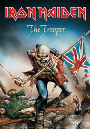 Was always one of my favourites... Derek Riggs. The Trooper. Iron Maiden