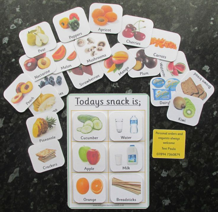 Snack board and pecs OR Now, next and later basic board. Communication cards