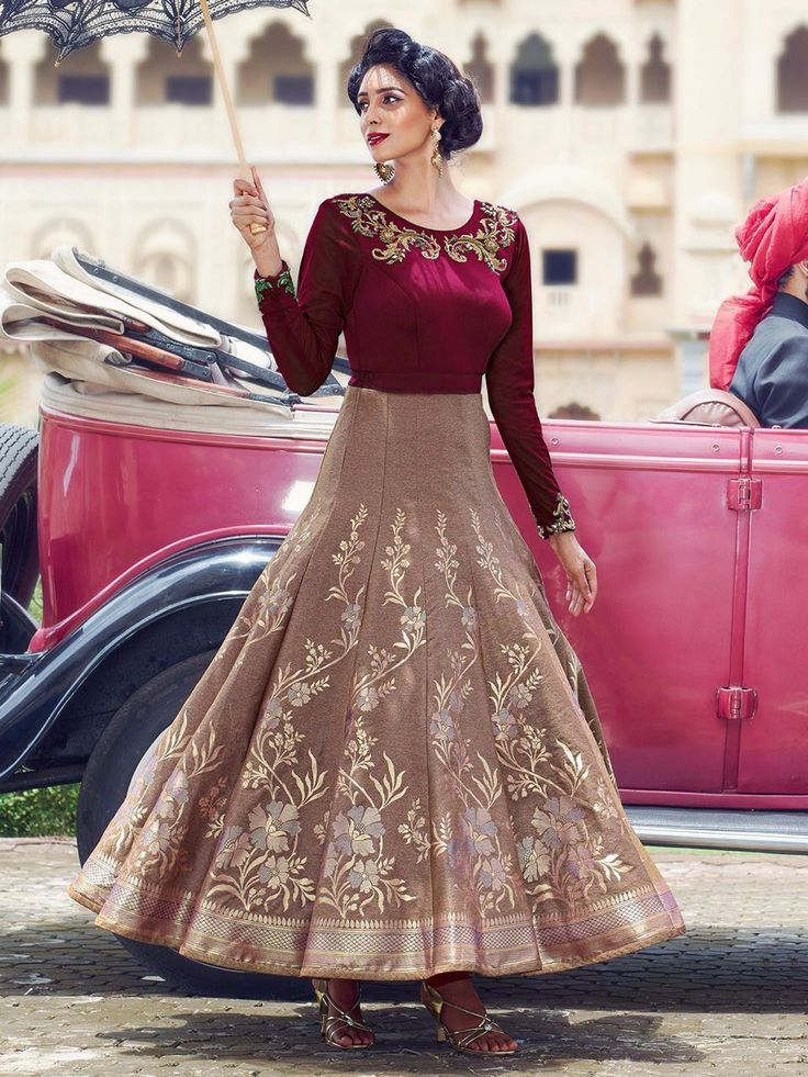 Wedding Wear Anarkali Type Gown Any More Query Please Contact