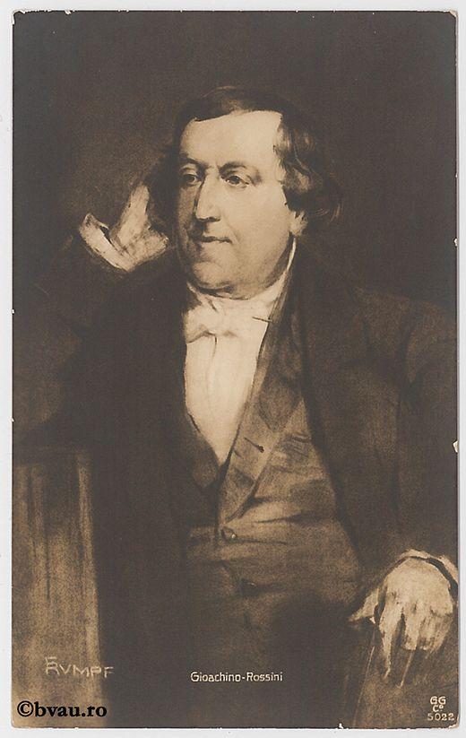 """Gioachino Rossini. Imagine din colecțiile Bibliotecii """"V.A. Urechia"""" Galați."""