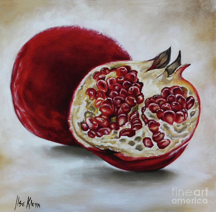 Pomegranate Painting by Ilse Kleyn - Pomegranate Fine Art Prints and Posters for Sale