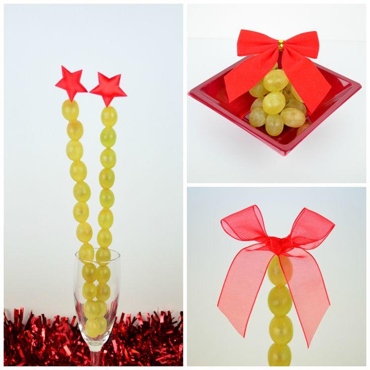 Cómo presentar las uvas en Nochevieja  #uvas #nochevieja #postre #cocina