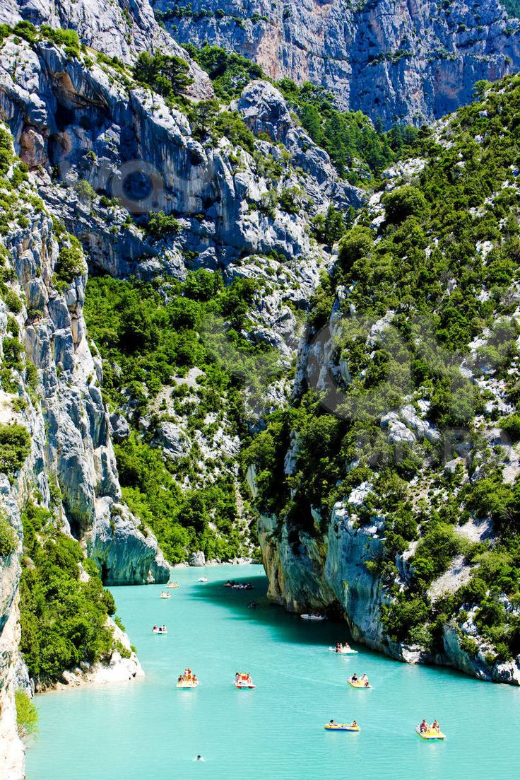 Gorges du Verdon, a real natural canyon in the middle of Provence! A true eye- candy, labelled as Regional Natural Park since 97, where you can spend your summer. The place offers many activities like canoeing, rafting, sailing, rock-climbing. If you're in the mood, a 300m vertical rock face is waiting for you!