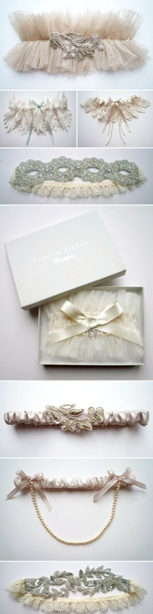 Vintage garter belts...don't underestimate the beautify of garters.  Not just for weddings.
