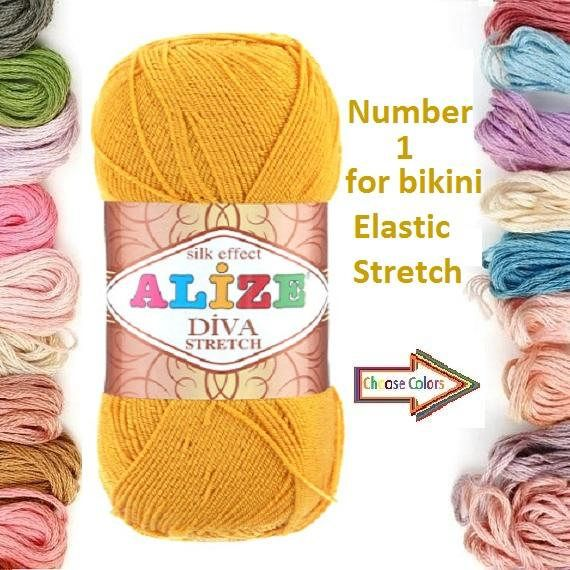 Check out this item in my Etsy shop https://www.etsy.com/listing/531032863/alize-yarn-diva-stretch-kniting-yarn