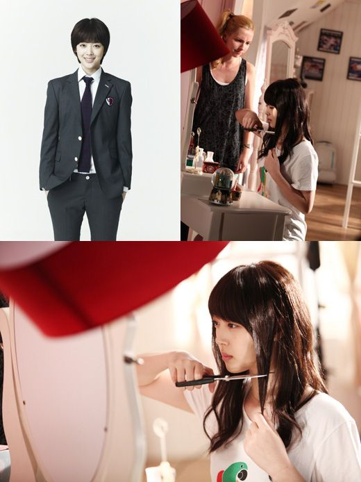 """Sulli's transformation on K-Drama """"To Beautiful You"""". She cut off 23 inches of her hair!"""