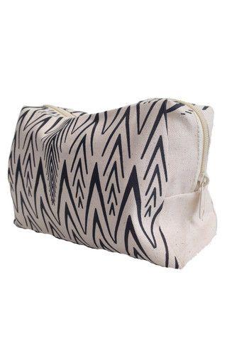 Ashoka Plume Print Organic Cotton Make-Up Bag | Accompany