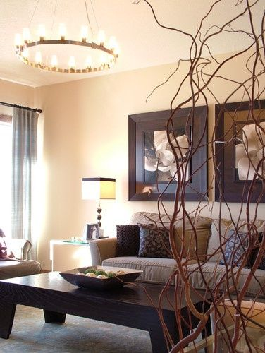 Brown living room design pictures remodel decor and - Living room center table decoration ideas ...