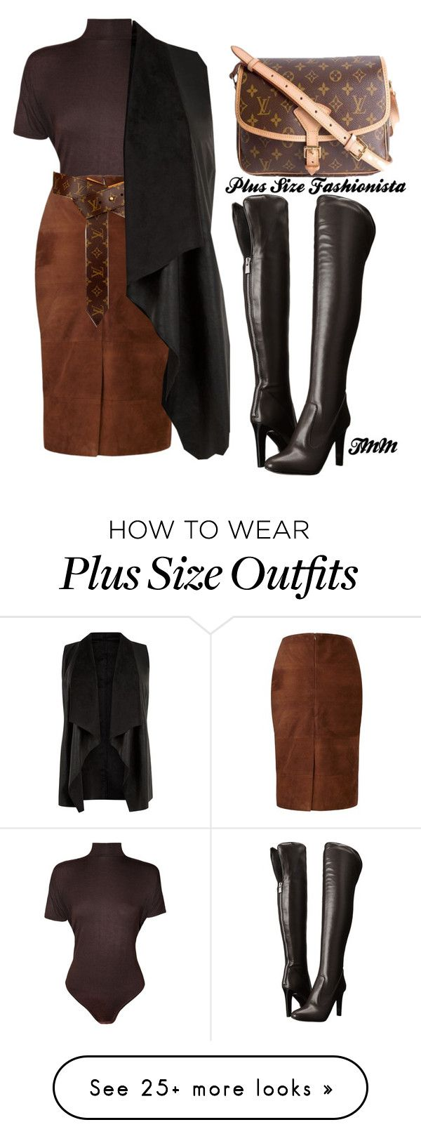 """""""Plus Size Fashionistas"""" by theblushingbeauty on Polyvore featuring WearAll, Viyella, Louis Vuitton and Nine West"""