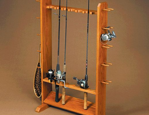 Fishing pole rack retirement projects and plans pinterest for Fishing rod holder plans