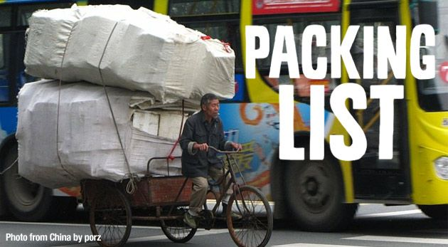 Comprehensive packing list created by the Travellerspoint members. #travel #packing #luggage