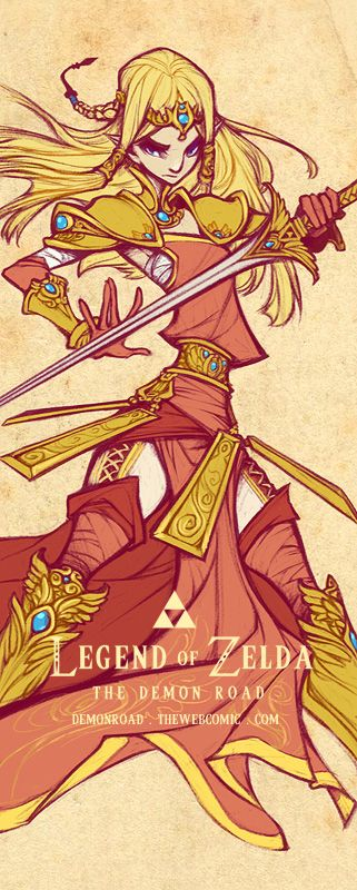 Wallscoll: Zelda by `dapper-owl on deviantART @Ayara  I've just realized how extremely similar this looks to Zelda's new outfit in HW….