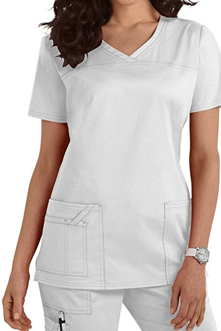 Damen Uniformen Schlupfkasack Gute Qualität V-Neck Top [ 20 Farben ]: Amazon.de: Bekleidung