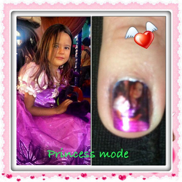 #nails #princess #uñasdecoradas