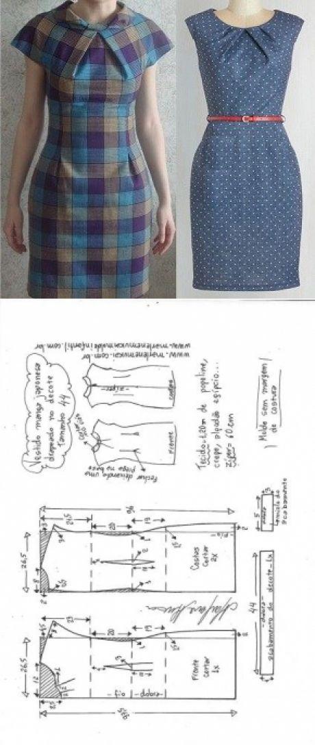 Фото простейшая выкройка платья