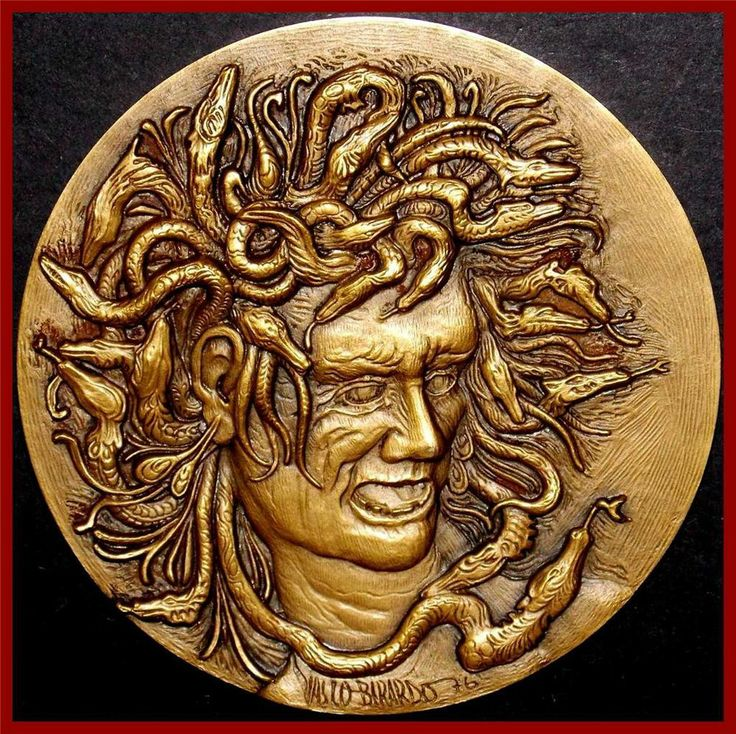 Mythology/ Medusa/ Psychoanalysis/ Sigmund Freud/ Gerontopsychiatry/ BRZ MEDAL