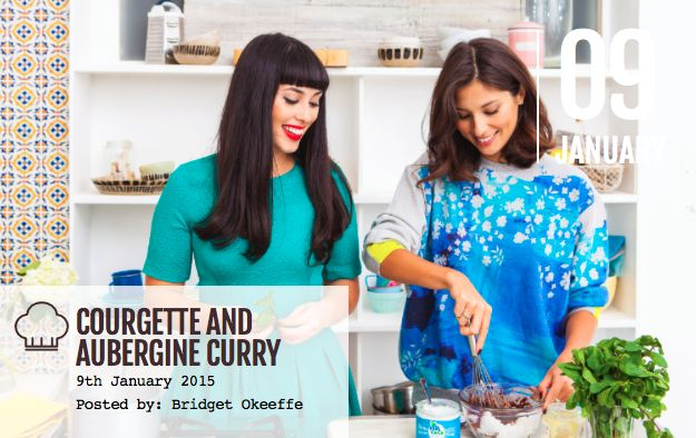 Happy Friday girls! To kick things off to a healthy start here is a yummy recipe courtesy of Hemsley and Hemsley. It's the perfect thing for snuggling up with on a  cold January night with. Enjoy this delicious Courgette and Aubergine Curry! To get the full recipe, click here: http://bridalbeautyinsider.com/2015/01/courgette-aubergine-curry/