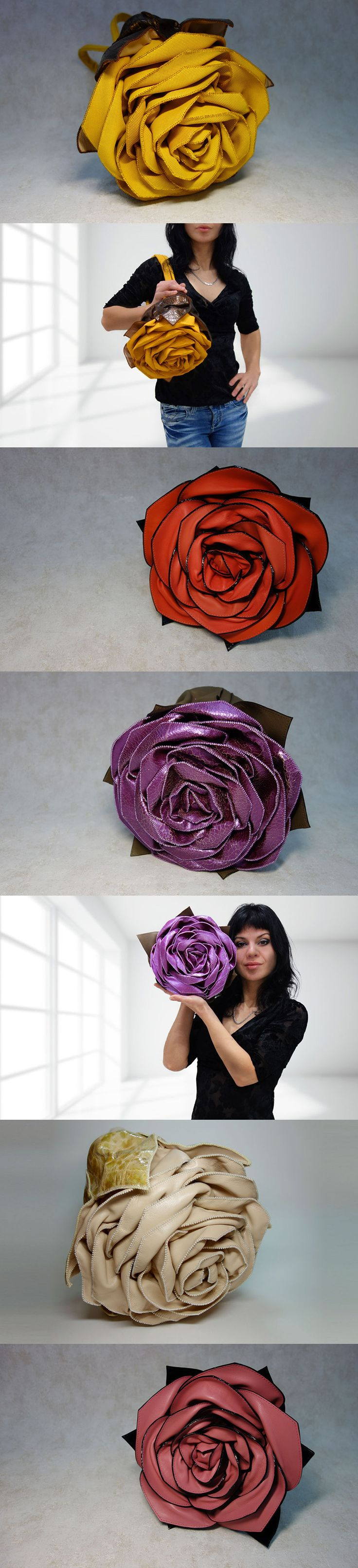 Tatyana Fot creates leather purses that look just like roses!