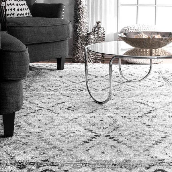Strick Bolton Zetterlund Tribal Diamond Area Rug Grey Area Rug Area Rugs Living Room Inspiration