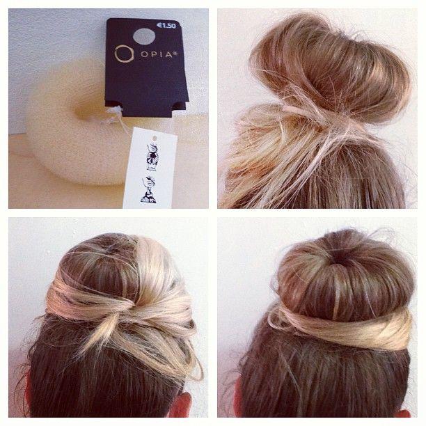 how to use a hair bun donut - photo #12