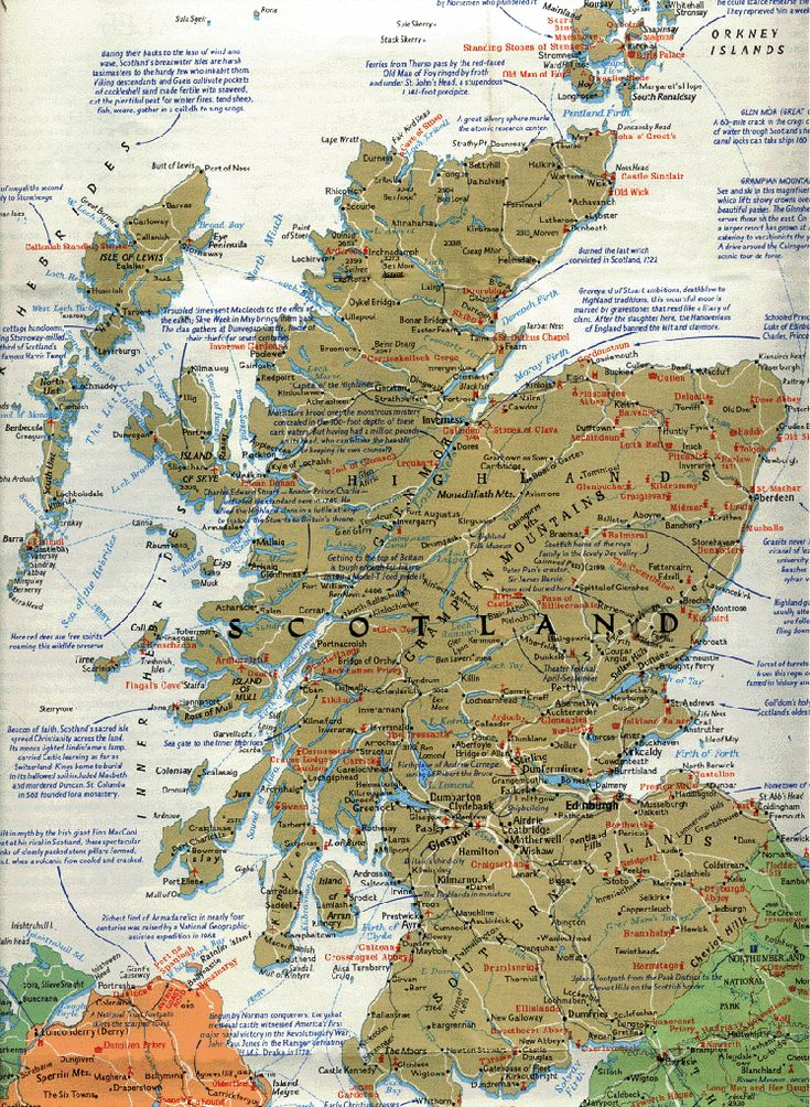 full page map of scotland