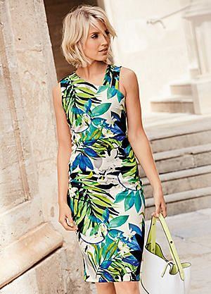 Tropical Print Scuba Dress #cruisewear #holiday #kaleidoscope