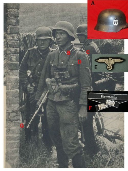 "Men of SS-verfügungstruppen Regiment ""Germania"" most likely in the lowlands of France during Unternehman Fall Gelb."