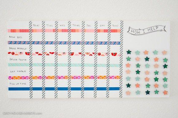DIY Magnetic Dry Erase Kids Chore Chart  |  greyhouseharbor.com