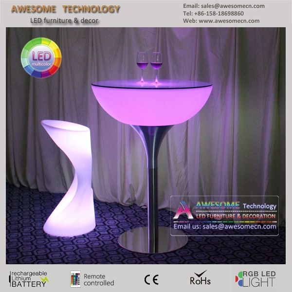 35 best led event furniture and wedding decor images on for Cocktail tables led