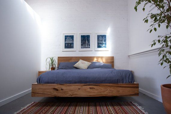 Paul S Solid Timber Floating Bed Made In Melbourne Floating Bed Furniture How To Make Bed