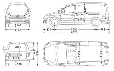 VW Caddy Maxi Panel Van Dimensions | Volkswagen Vans and Commercial Vehicles (UK)