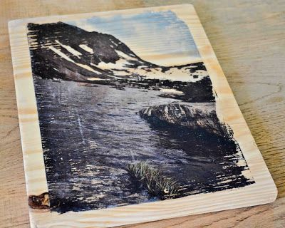 PHOTO TRANSFER ON WOOD
