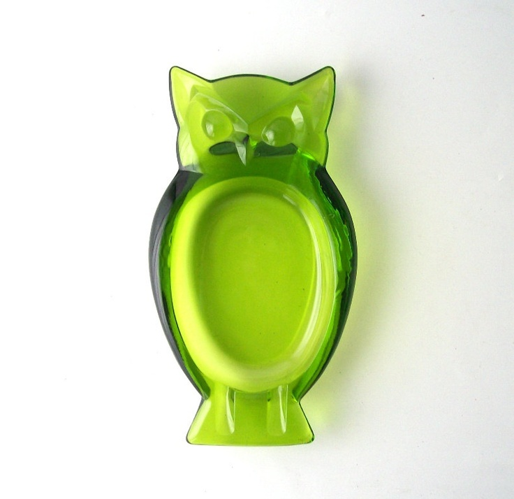 Carnival Ware Glass Owl