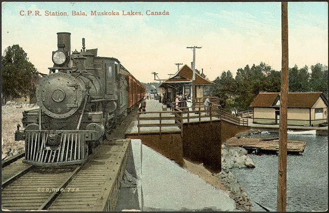 C.P.R. Station, Bala, Muskoka Lakes, Canada (1910)