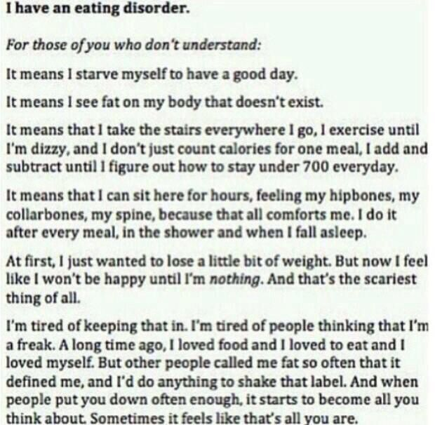 I have an eating disorder This is Totally Me Pinterest - project meeting minutes template
