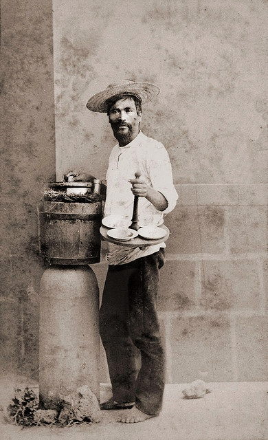 Vendedor de helado. Mercados mexicanos