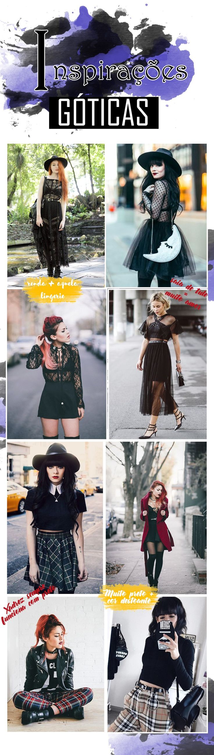 Algumas dicas de como usar a nova tendência de inverno: gótico glam. Sem pecar nos exageiros. #gotico #glam #moda #fashion #tendencia #trend #preto #renda